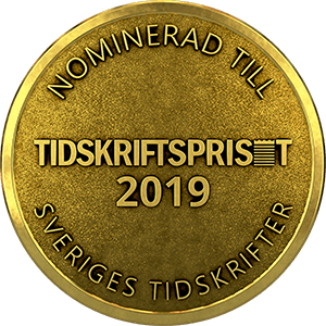 Nominerad till Tidskriftspriset 2019
