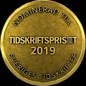 Nominerad till Tidskriftspriset 2019